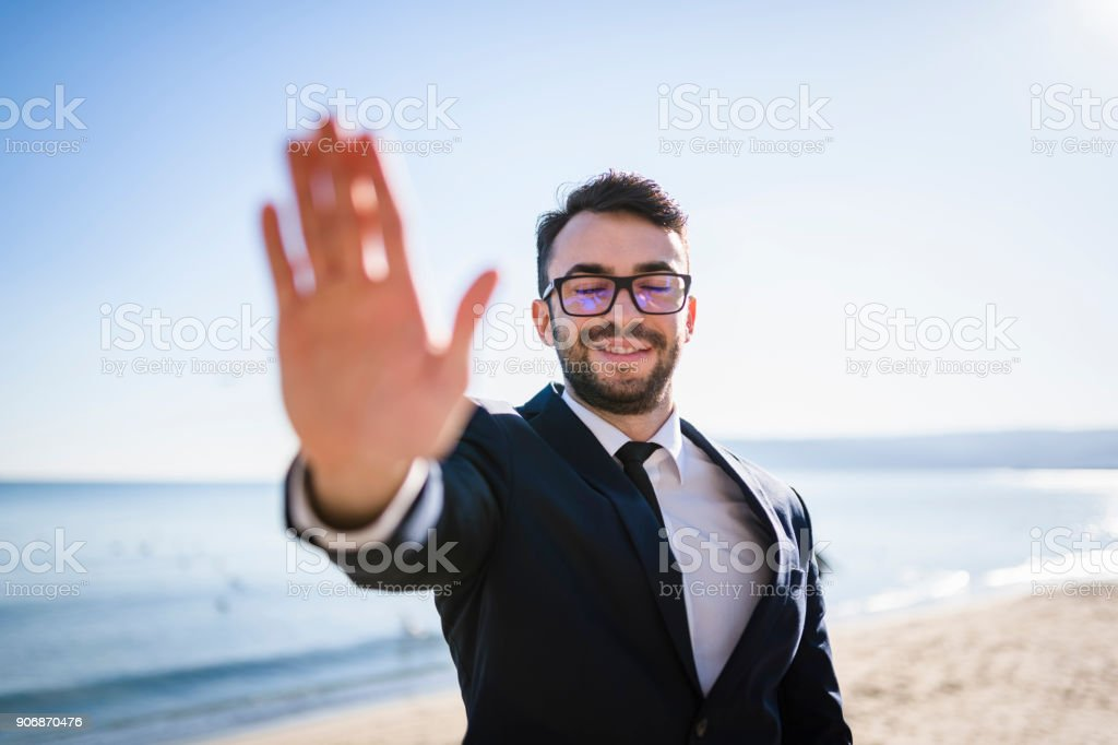 Businessman intuition stock photo
