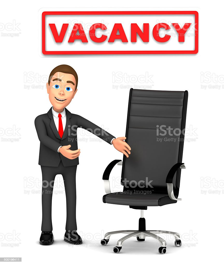 Businessman Invites To The Vacant Seat stock photo | iStock