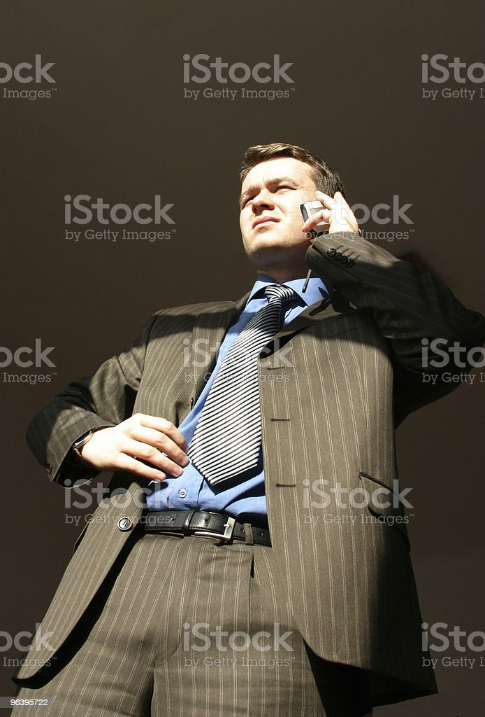 businessman is calling royalty-free stock photo
