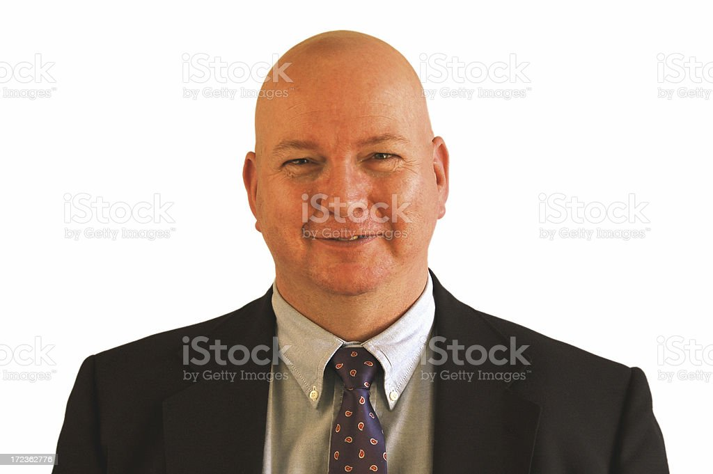 Businessman is Pleased royalty-free stock photo