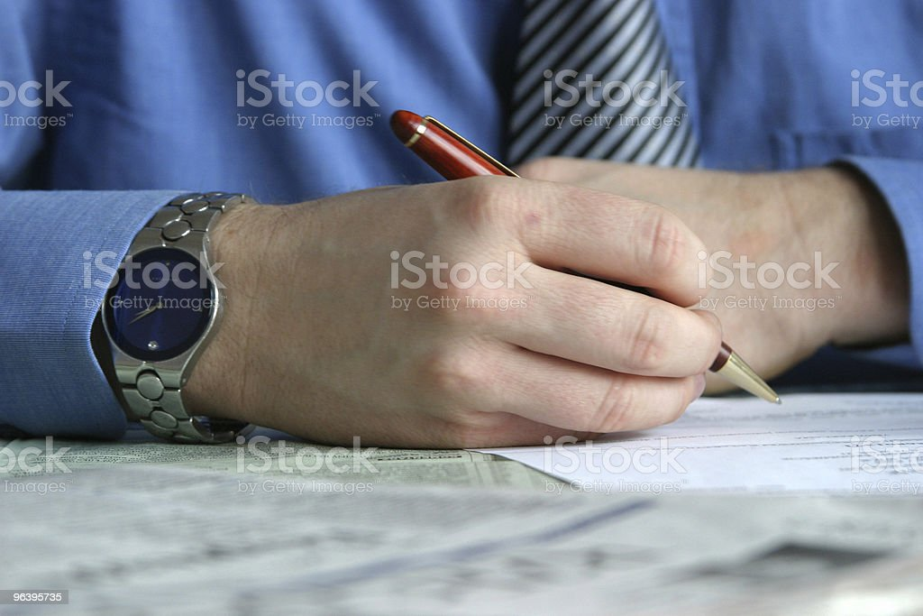 businessman is signing a contract - Royalty-free Agreement Stock Photo
