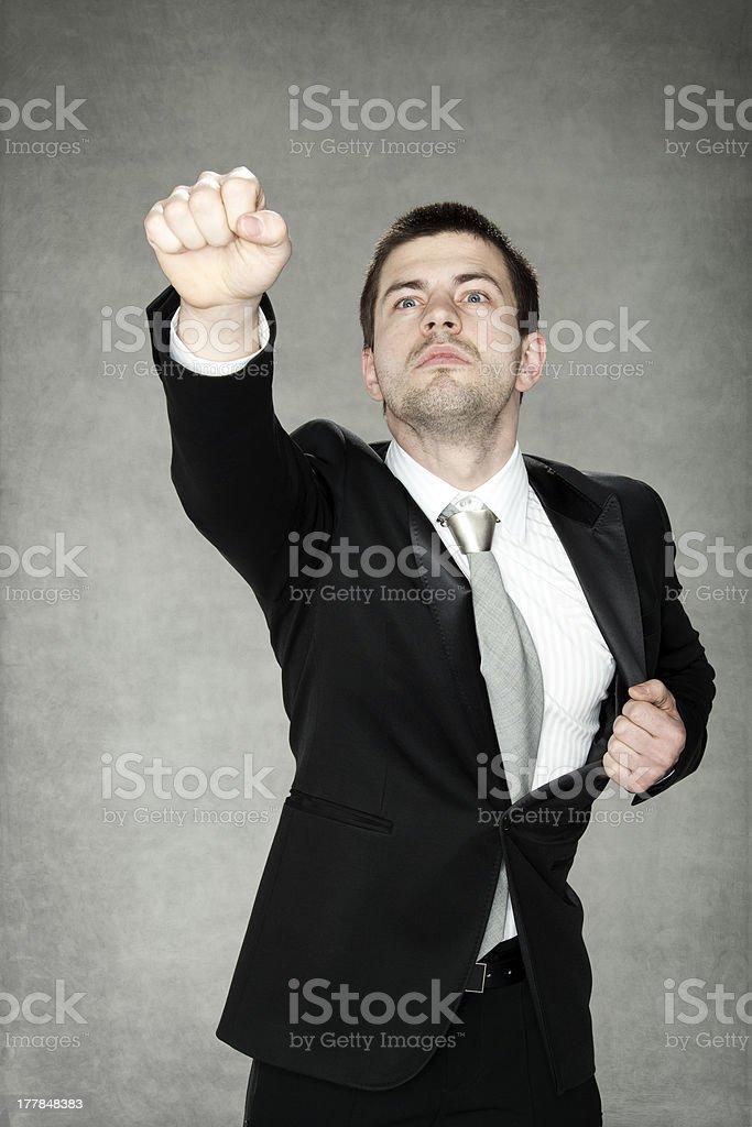 Businessman is Superhero stock photo