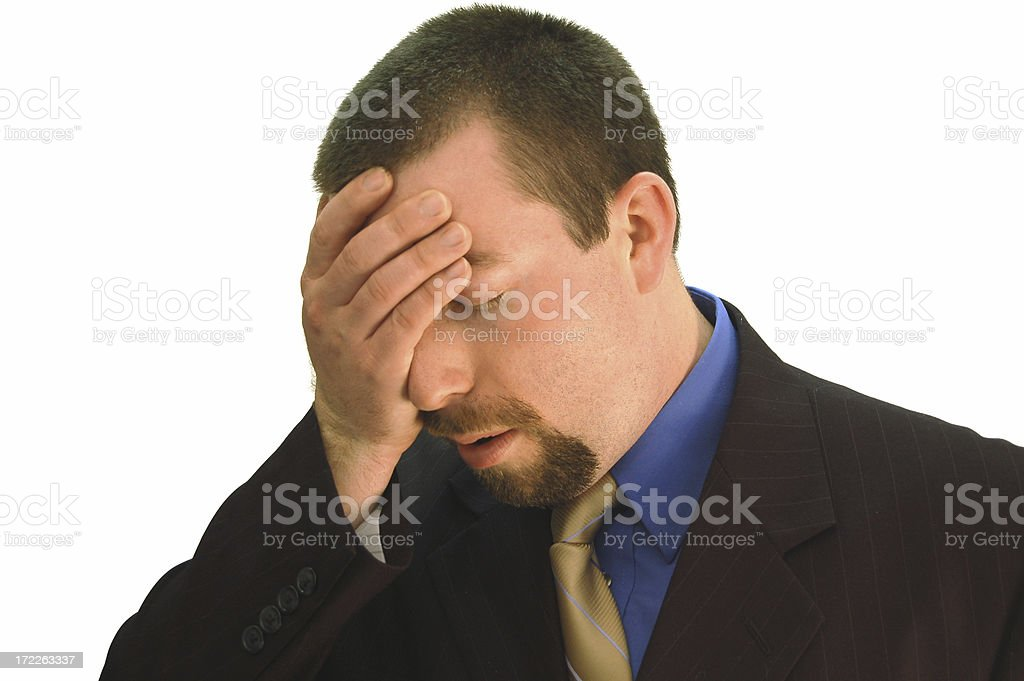 Businessman is Upset royalty-free stock photo