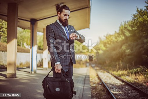 Men, Businessman, People, Adult, Adults Only, Train station,