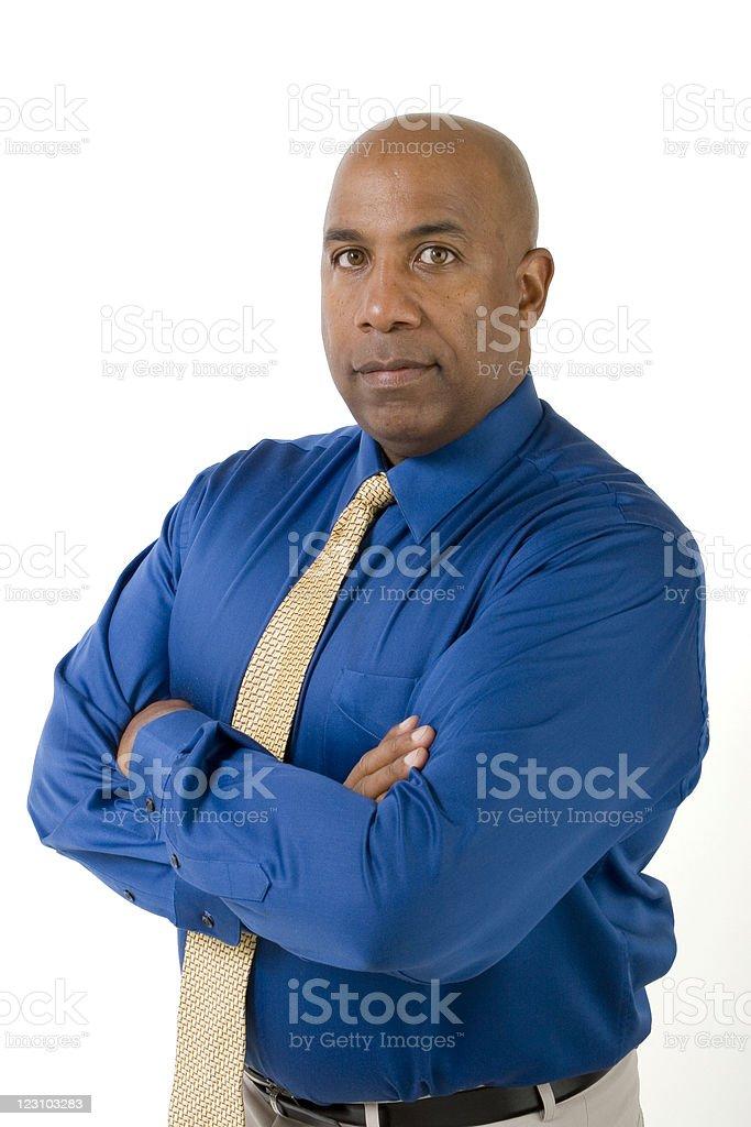 Businessman isolated on white royalty-free stock photo