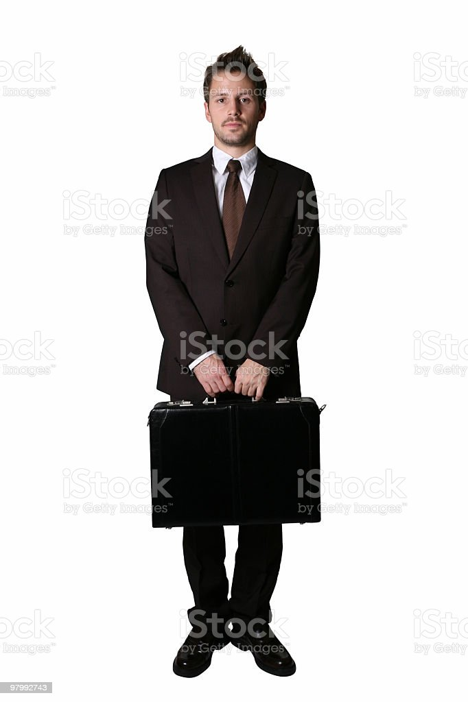 Businessman isolated royalty-free stock photo