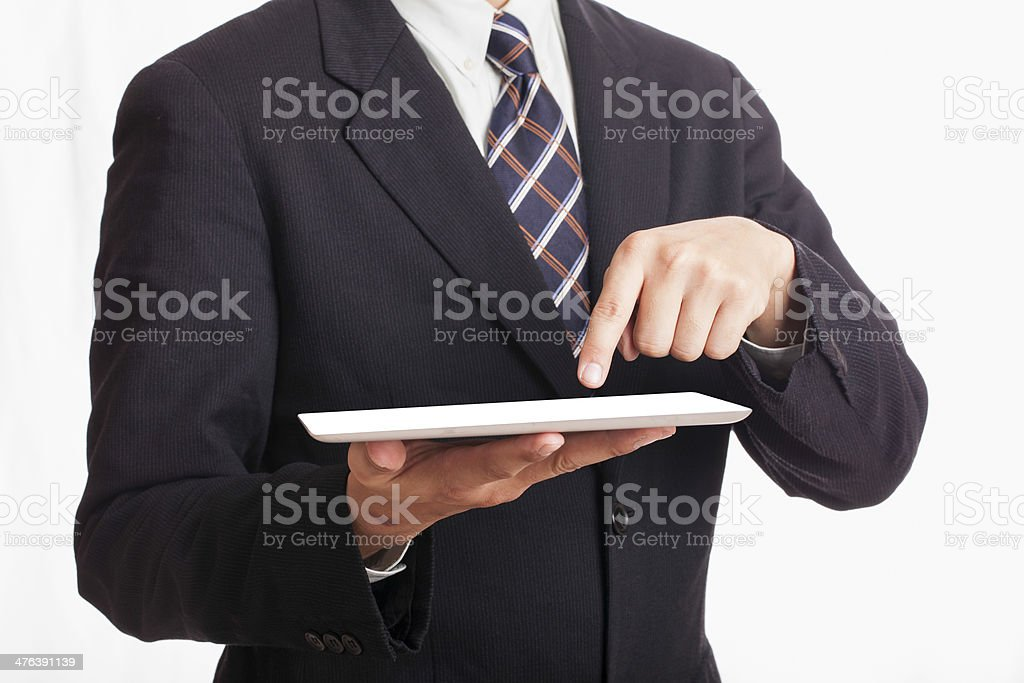 Businessman Jim tablet. royalty-free stock photo