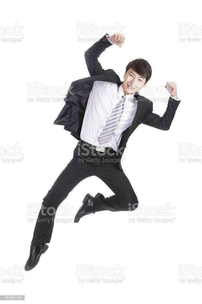 Businessman jump royalty-free stock photo