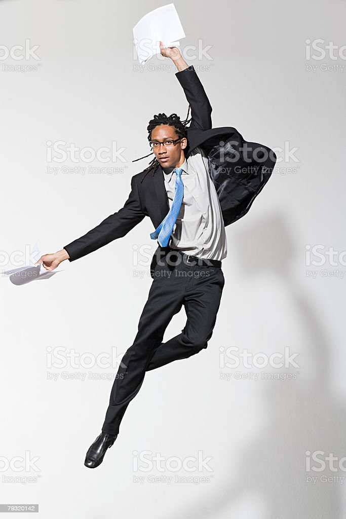A businessman jumping royalty-free 스톡 사진