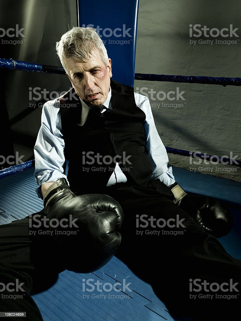 Businessman Knockout royalty-free stock photo