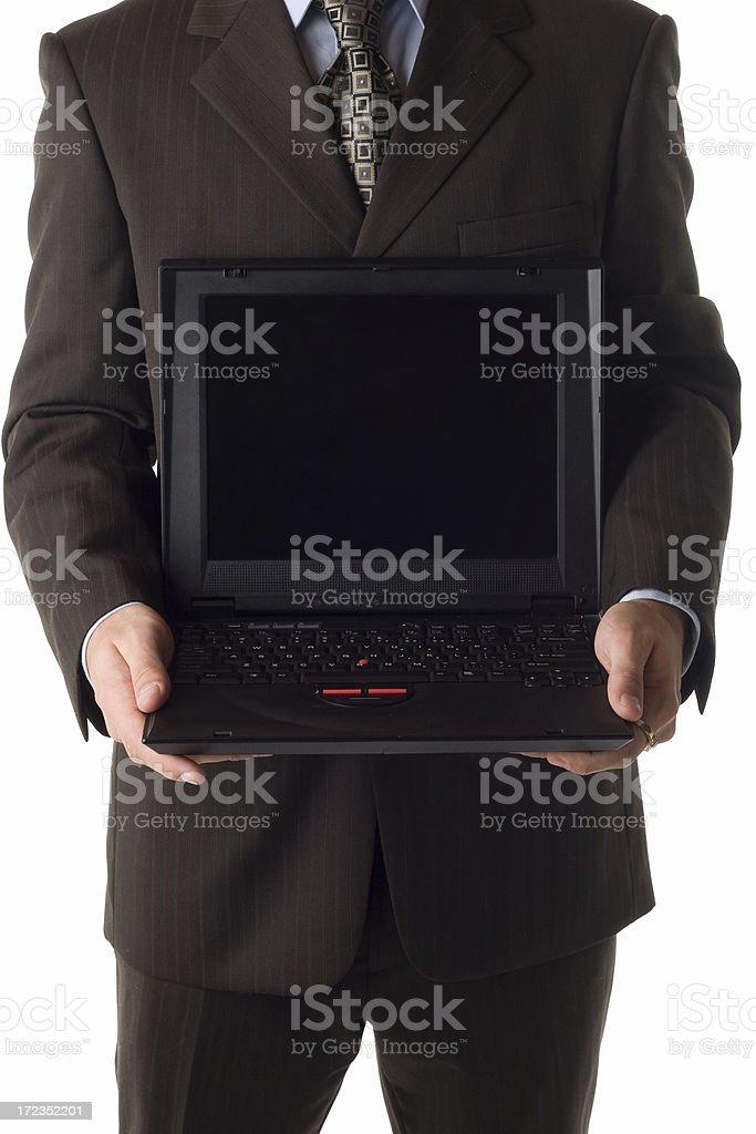 Empresario computadora portátil foto de stock libre de derechos