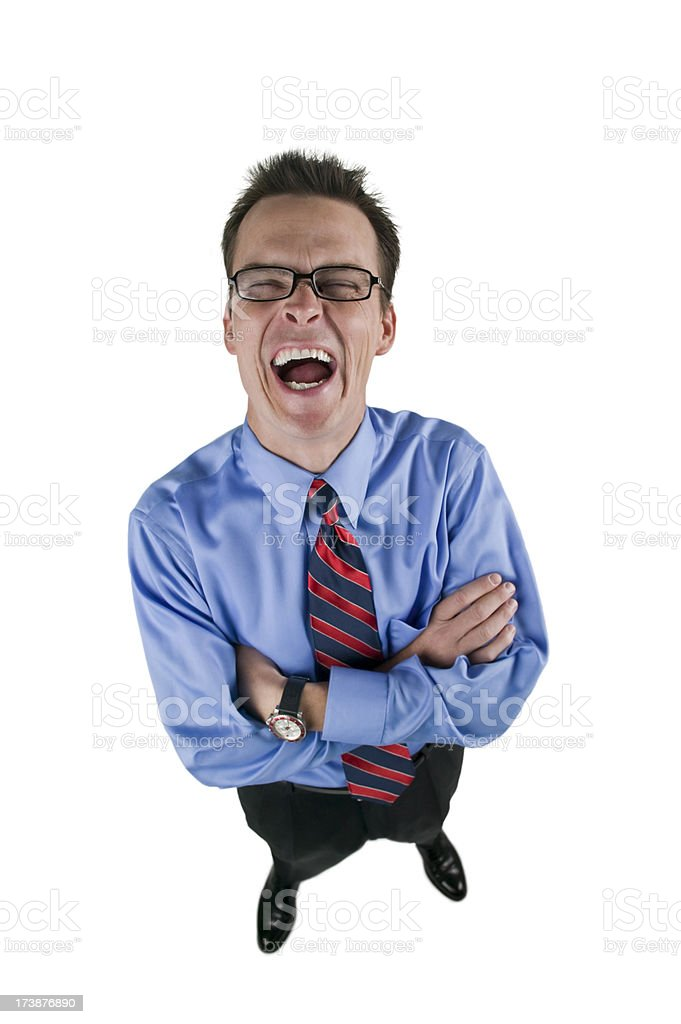 Businessman laughing hysterically. royalty-free stock photo