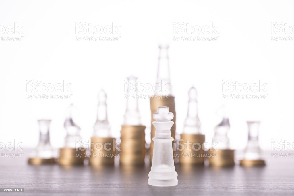Businessman leader chess concept stock photo
