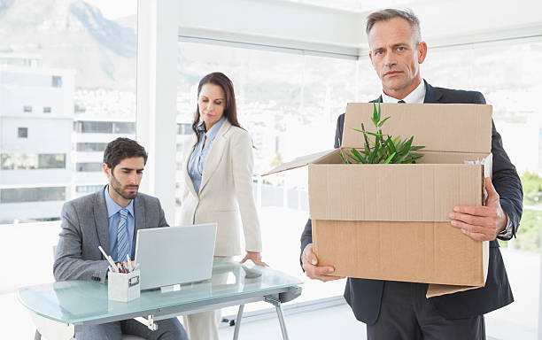 businessman leaving his old job - leaving partnership corporate business sitting stock photos and pictures