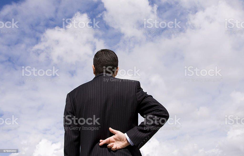 businessman lie royalty-free stock photo