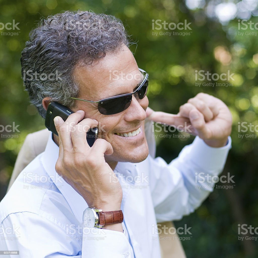 Businessman lifestyle outdoor royalty-free stock photo