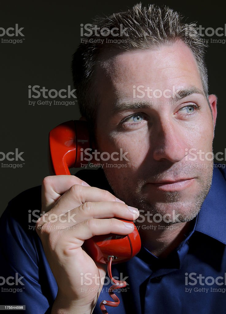 Businessman Listening on the Phone royalty-free stock photo