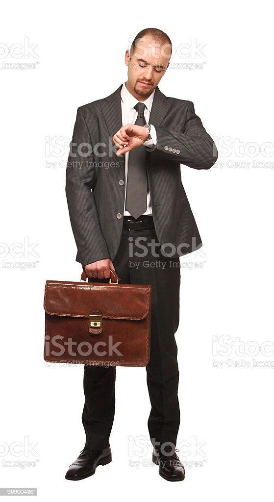 businessman look his watch royalty-free stock photo