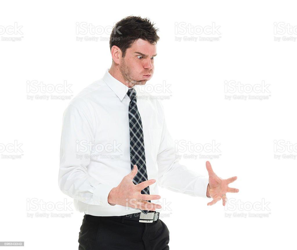 Businessman looking angry Lizenzfreies stock-foto