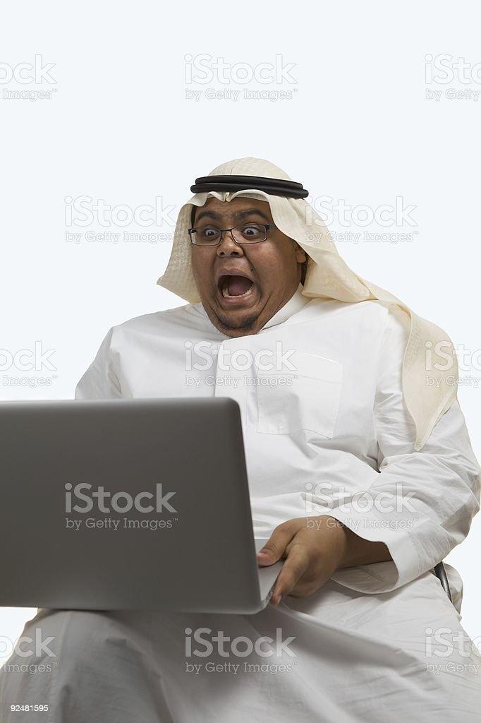 Businessman looking at bad results royalty-free stock photo