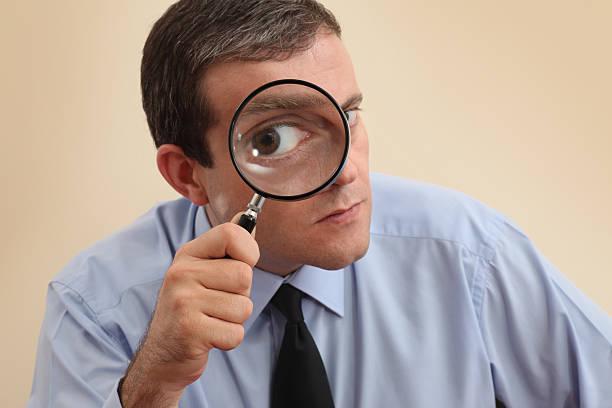 ispettore commerciale - ingrandimento foto e immagini stock