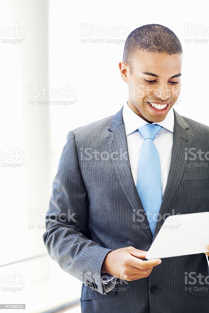 Businessman Looking At Digital Tablet royalty-free stock photo