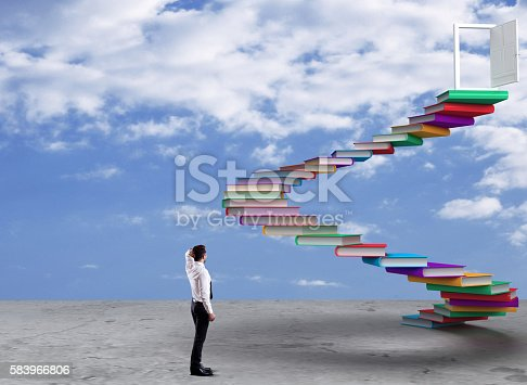 istock Businessman looking at opportunity 583966806