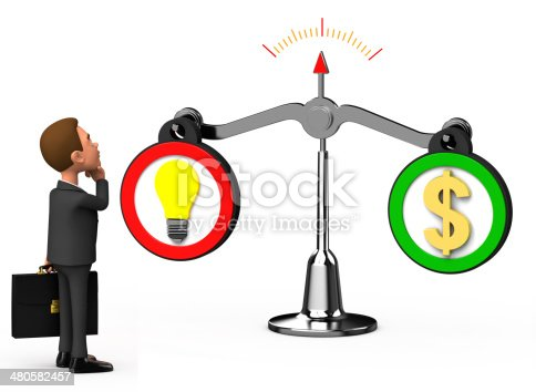istock businessman looking at the balance 480582457