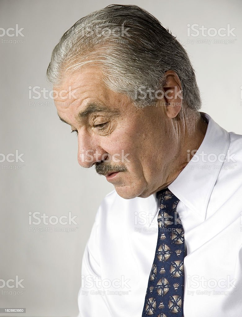 Businessman Looking Down royalty-free stock photo