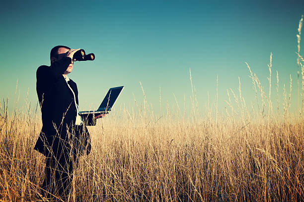 businessman looking field for investment. - searching stock photos and pictures