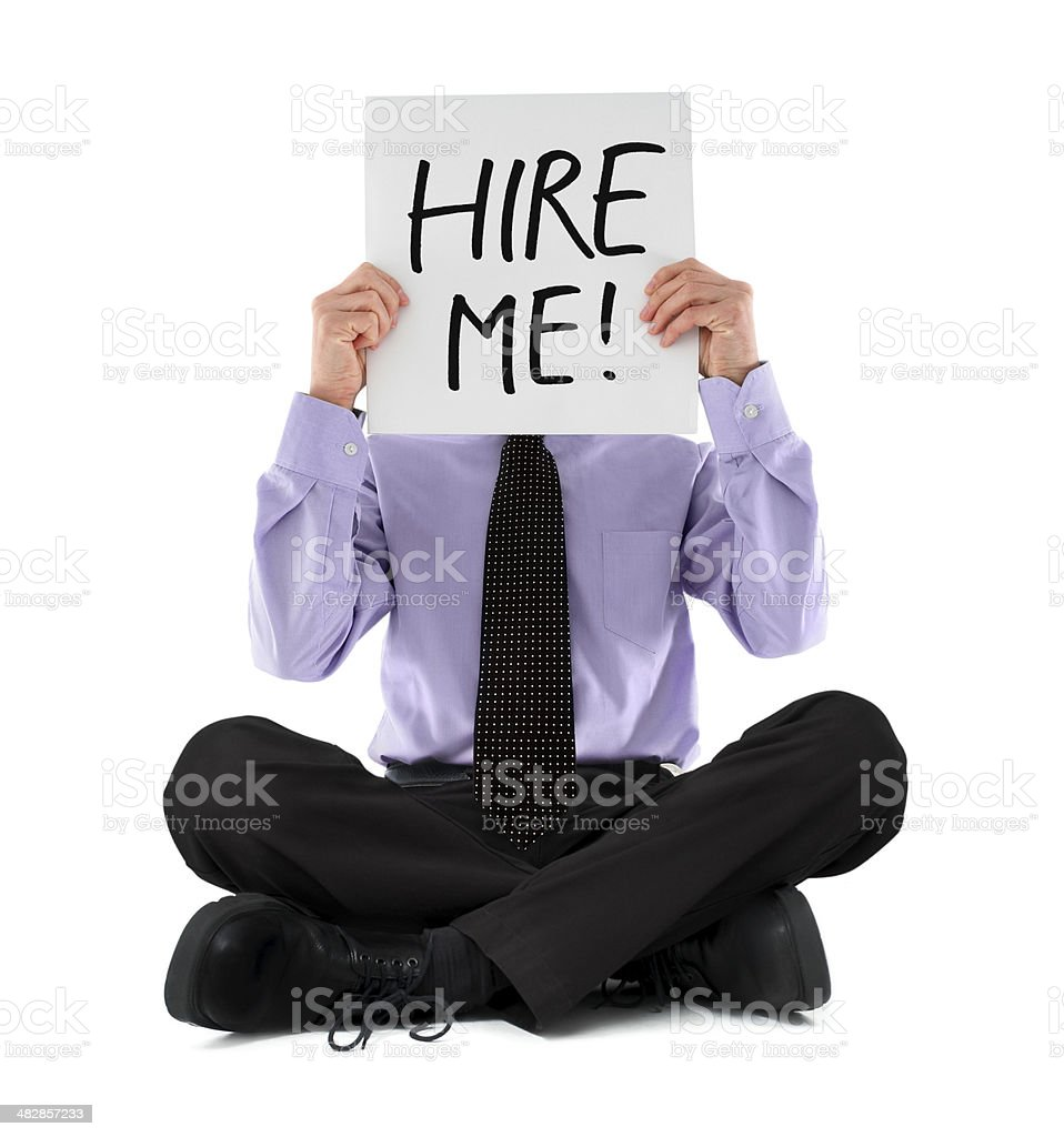 Businessman Looking for a Job royalty-free stock photo