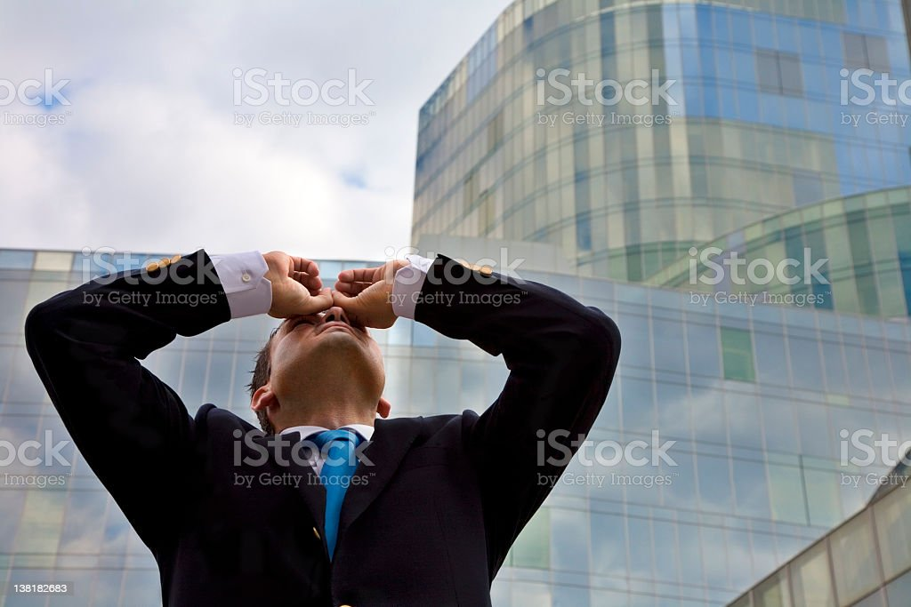 Businessman Looking Higher royalty-free stock photo