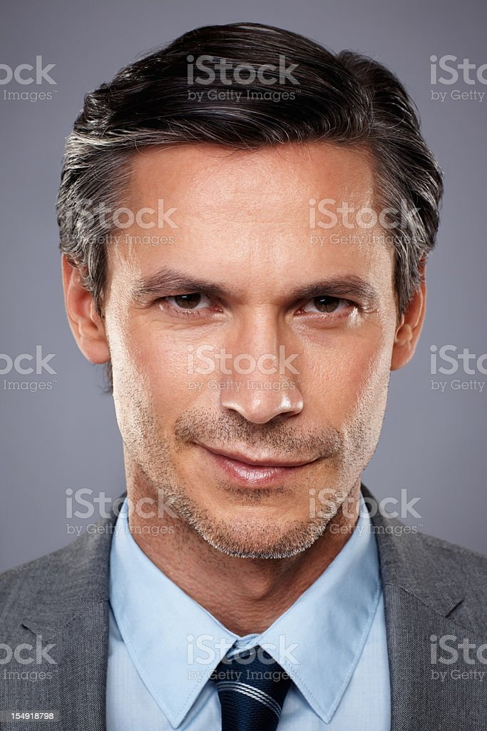 businessman looking intense royalty-free stock photo