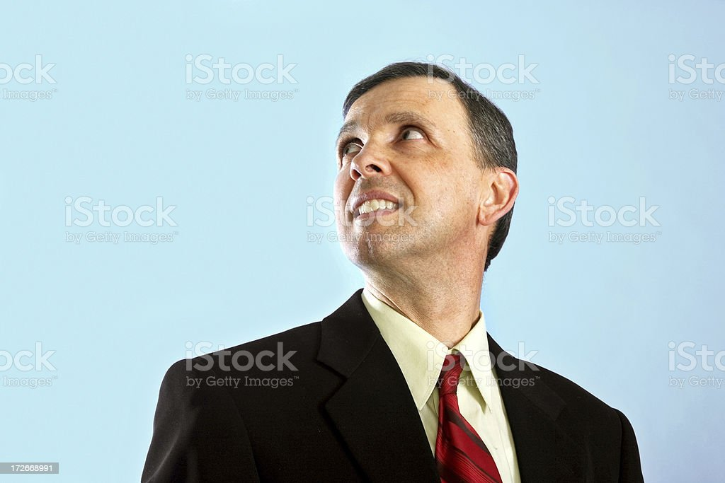Businessman looking left royalty-free stock photo