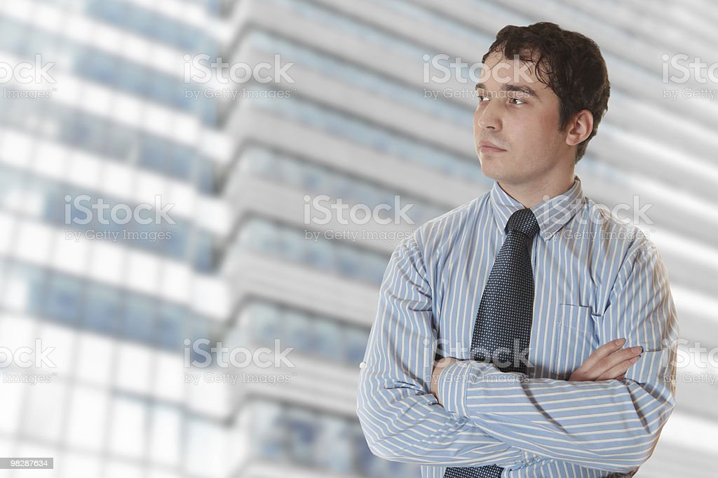 Businessman Looking Out royalty-free stock photo