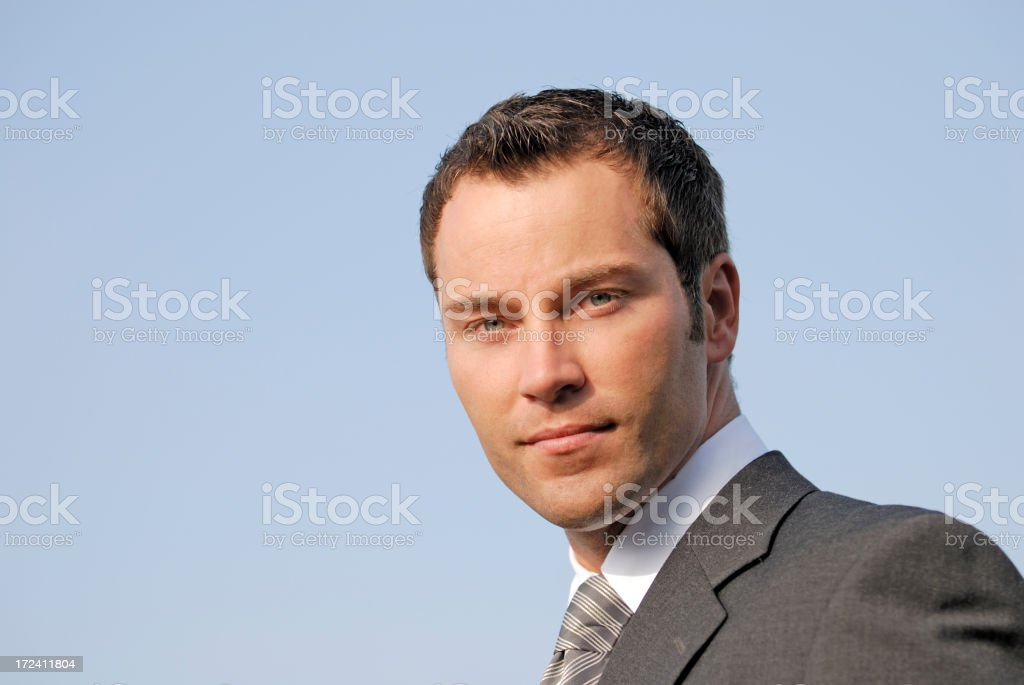 businessman looking serious royalty-free stock photo