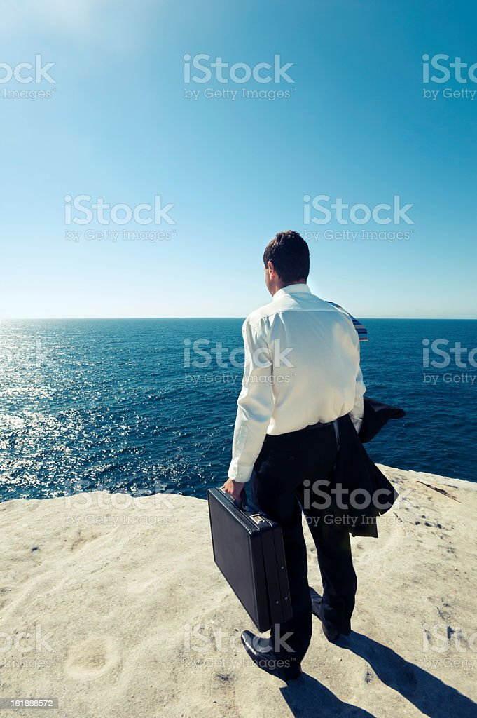 Businessman looking to the future royalty-free stock photo