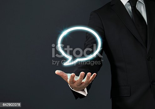 istock Businessman magical touch concept - contact 642902078