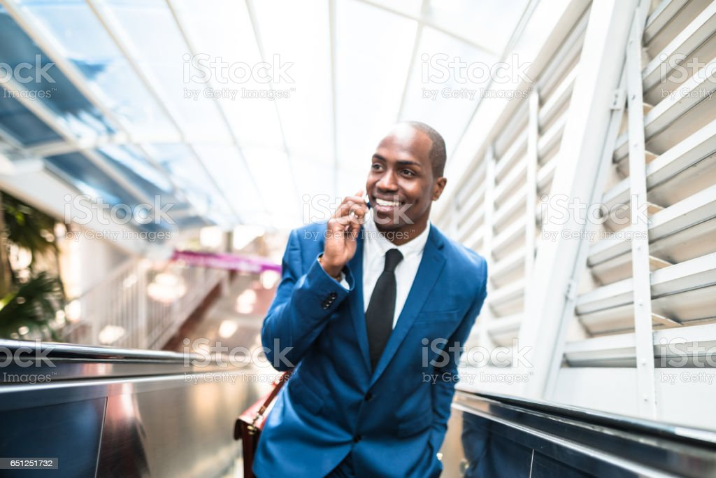 businessman make a phone call in miami stock photo