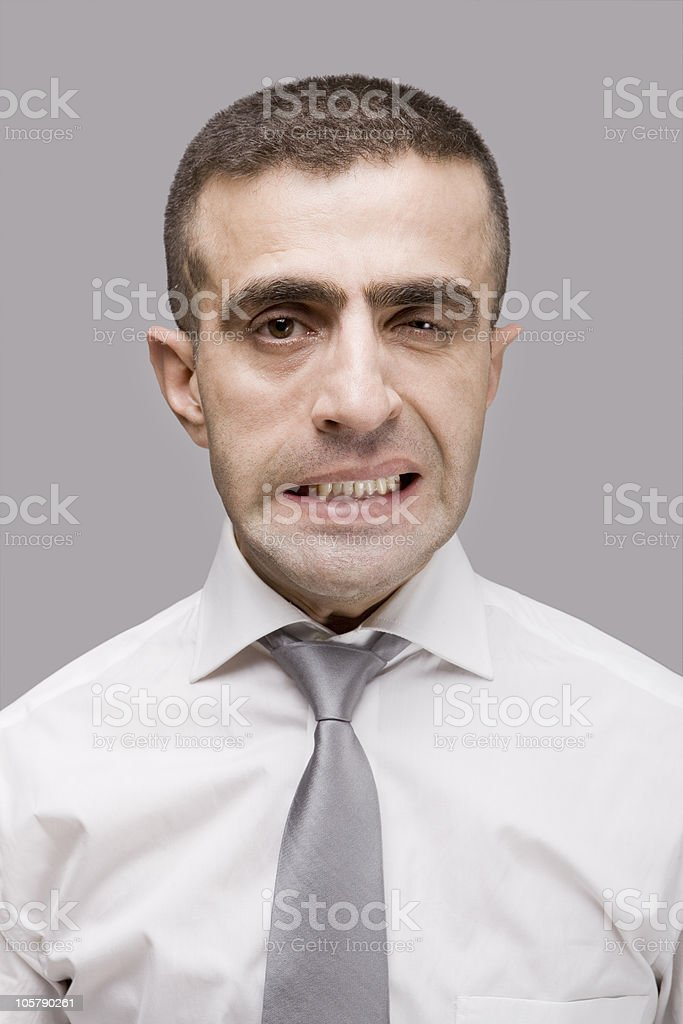 Businessman making a face royalty-free stock photo
