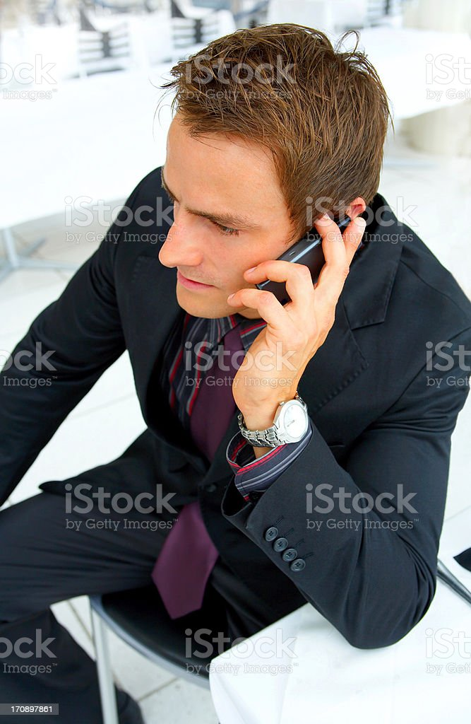 Businessman making a phone call.  royalty-free stock photo