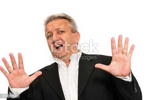 805011368 istock photo Businessman making a stop gesture 516287037