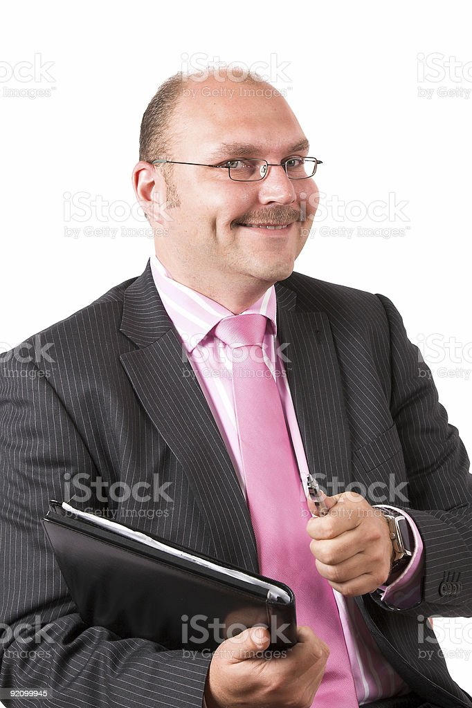 Businessman making a successful deal royalty-free stock photo