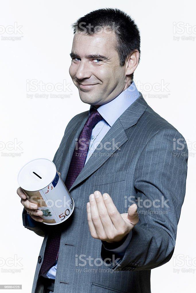 businessman man begging for money stock photo