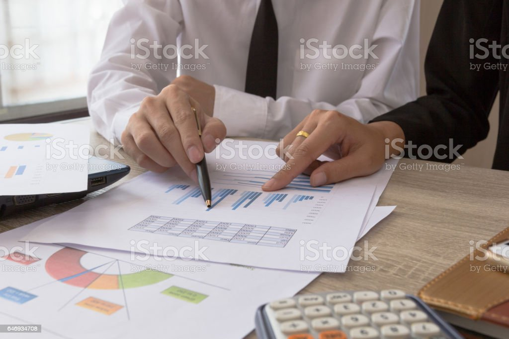 Businessman meeting team present the project stock photo