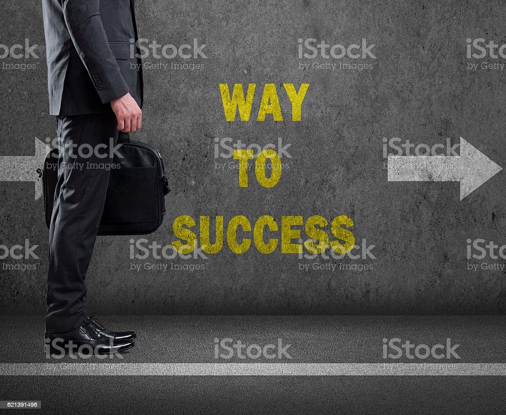 Businessman moving to achieve success stock photo