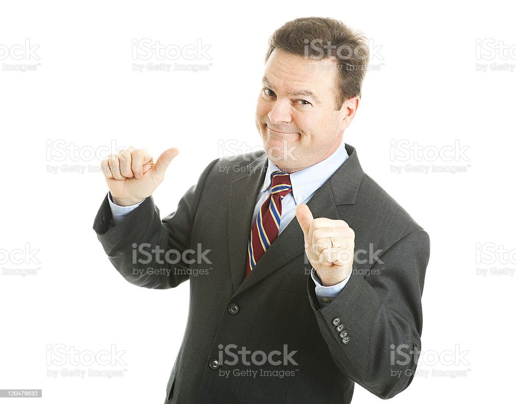 Businessman - Mr Bigshot stock photo