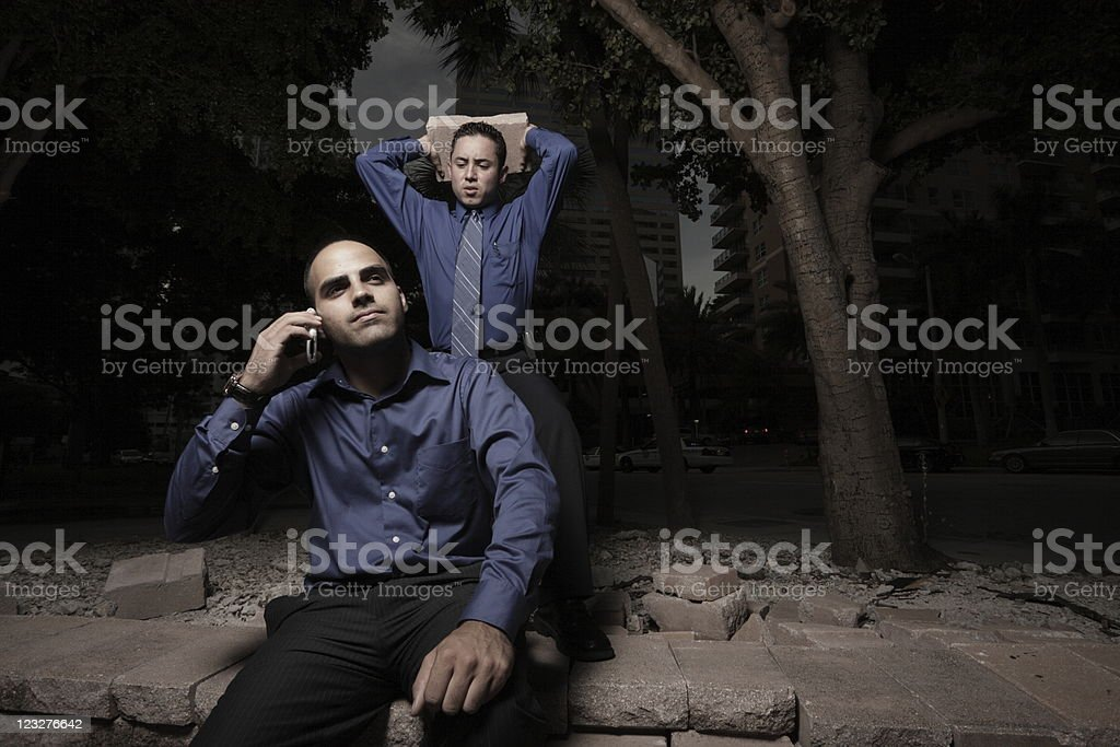 Businessman murderer stock photo