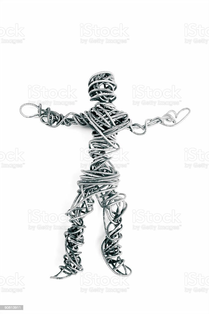 Businessman of Wire royalty-free stock photo