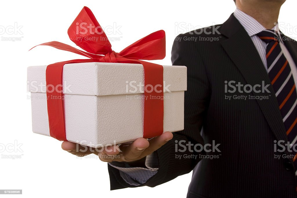 Businessman offer royalty-free stock photo